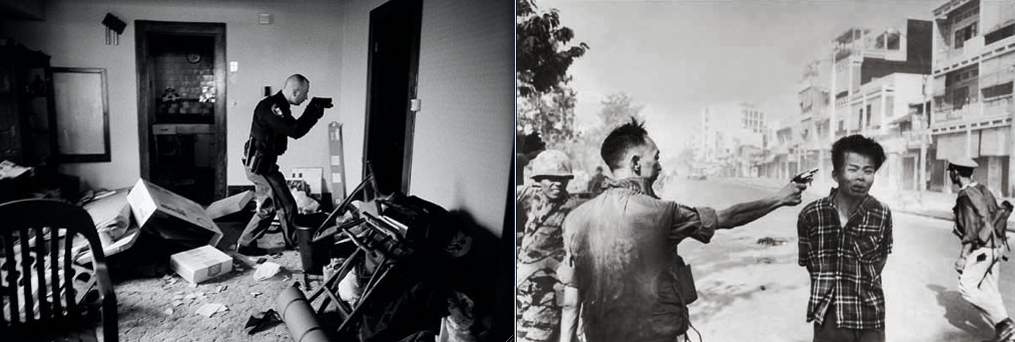 Photos © Anthony Suau for Time magazine (left) and © Eddie Adams for the Associated Press (right).