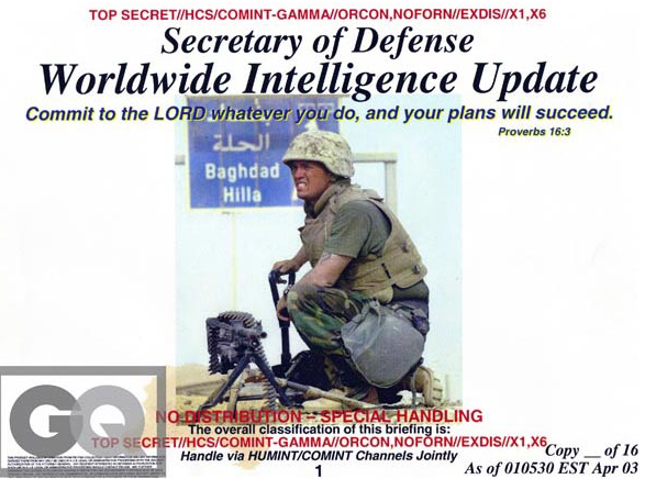 April 1, 2003, Worldwide Intelligence Update cover